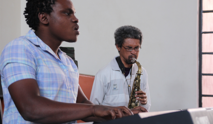 Ensemble Class students at Global Music Campus in South East Africa