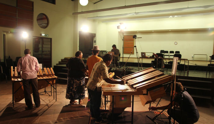 Students playing at the Global Music Campus