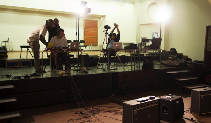 Students at the documentation phase at Global Music Campus