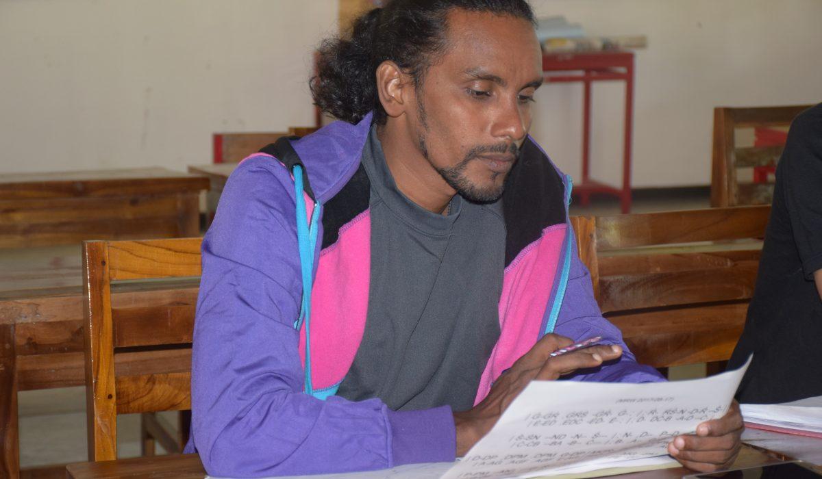 A student from the Music teacher training in Sri Lanka