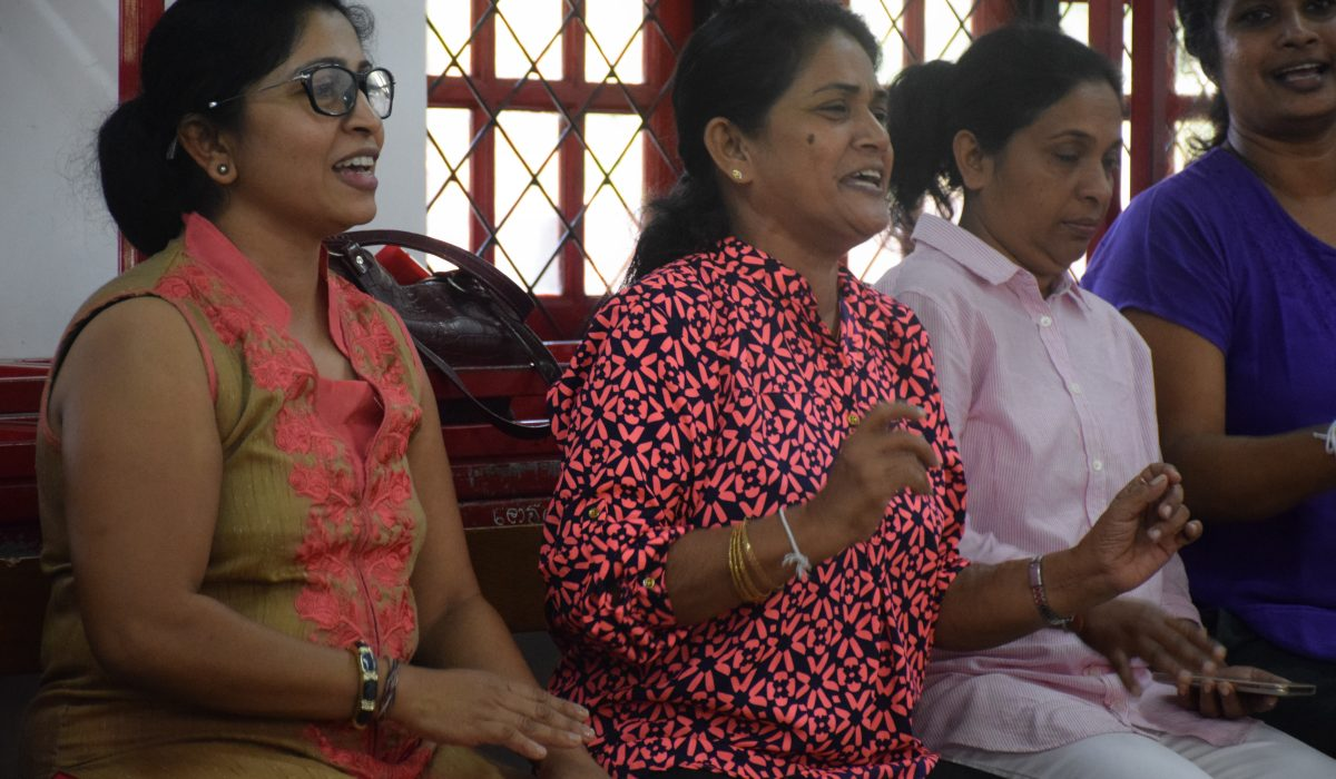 Women singing at South Asia Global Music Campus, a music teacher training in Sri Lanka