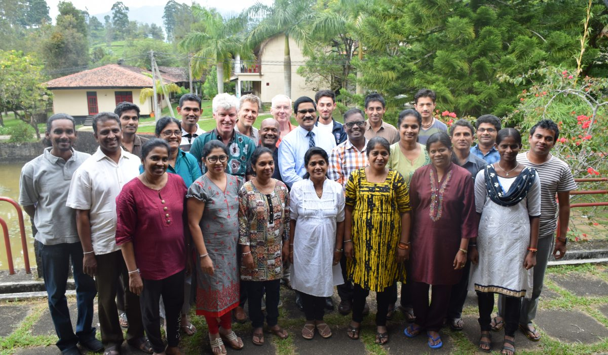 Students group at South Asia Global Music Campus, a music teacher training in Sri Lanka