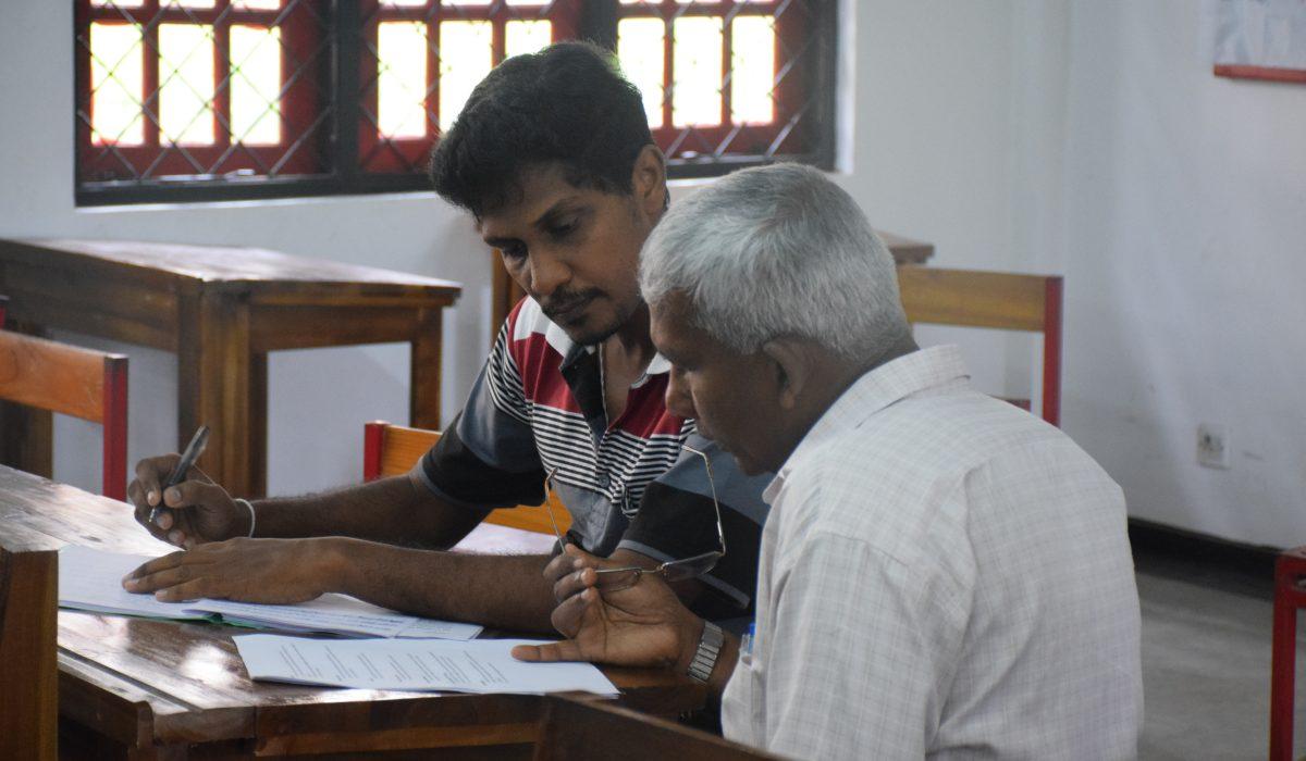 Teacher & Student at Global Music Campus in Sri Lanka
