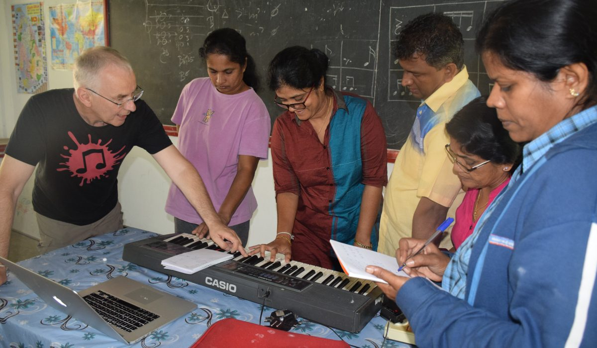 Piano lessons at the Music Teacher training in Sri Lanka