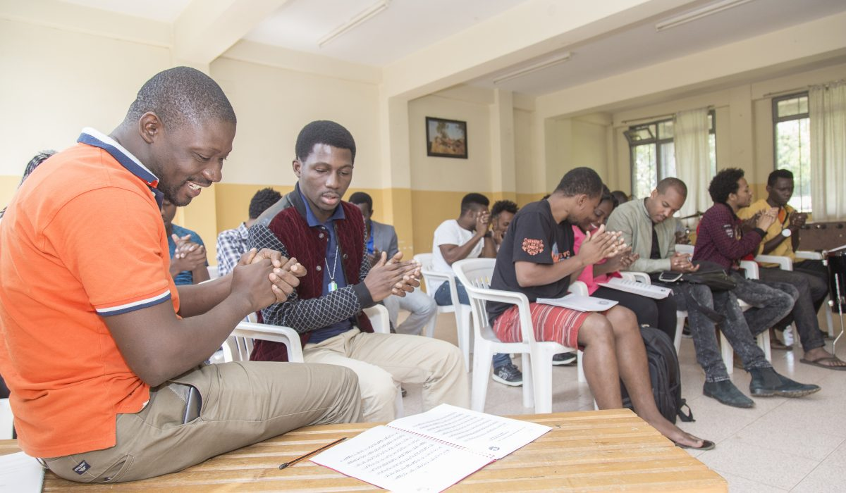 Reading lessons at the Ethiopia Global Music Campus