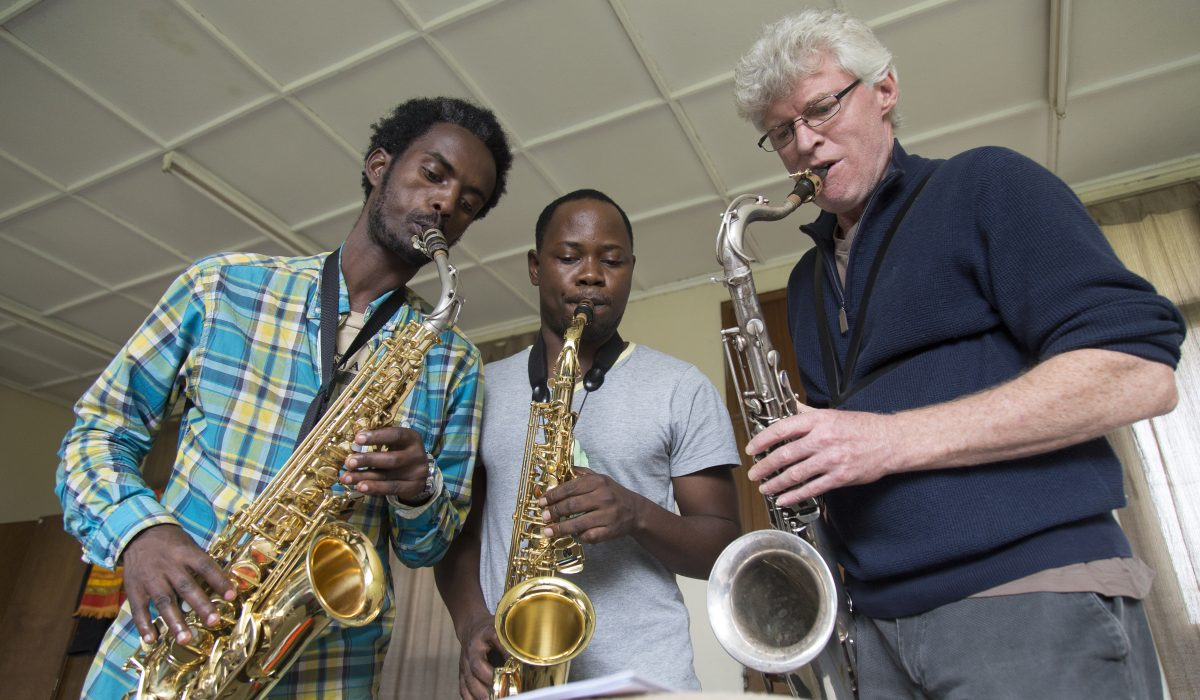 Saxophon lessons at Ethiopia Global Music Campus