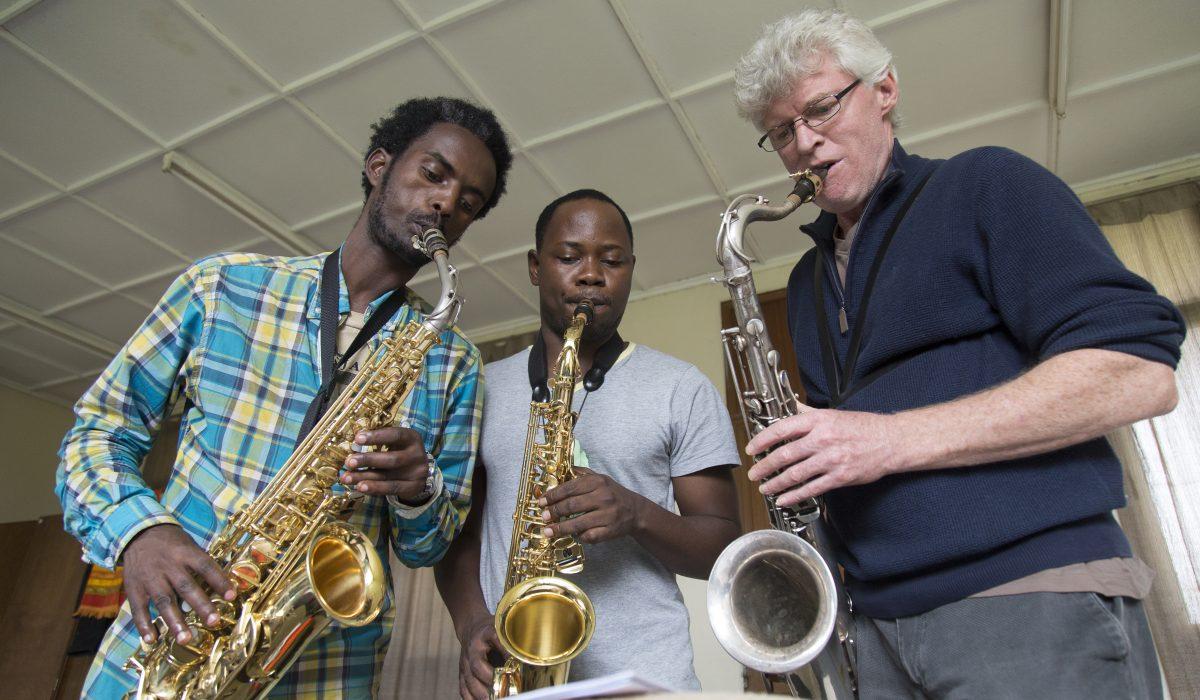 Saxophon lessons at Ethiopia Global Music Campus