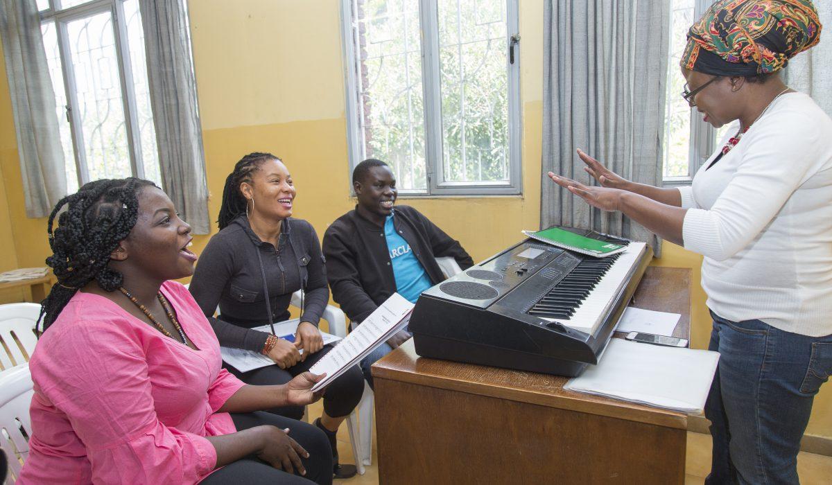 Teaching at the Ethiopian Global Music Campus
