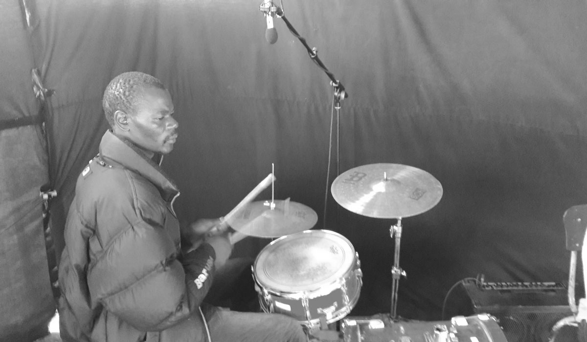 A drummer while documenting the Sungura Guitar Styles in Zimbabwe - Global Music Campus